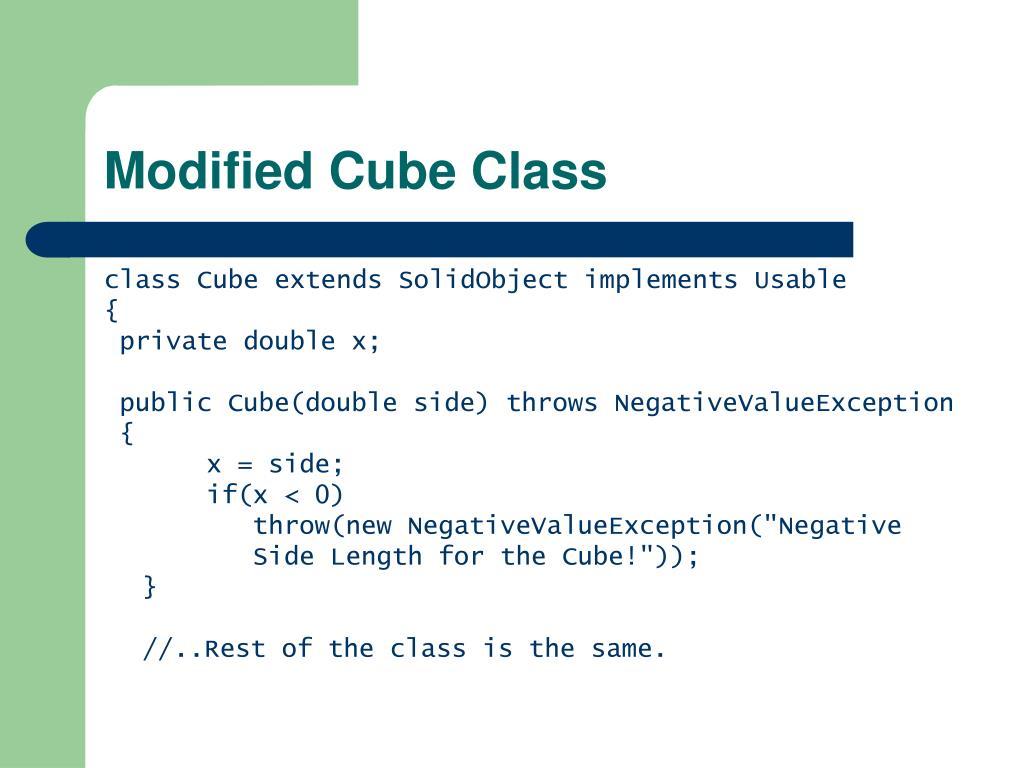 Modified Cube Class