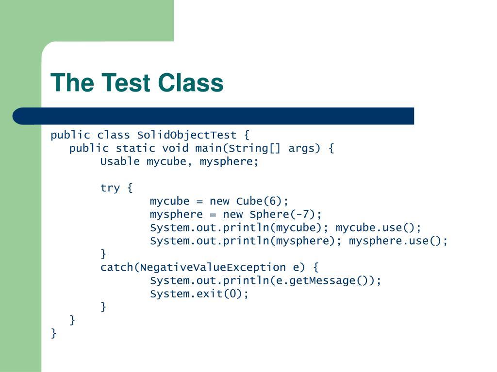 The Test Class