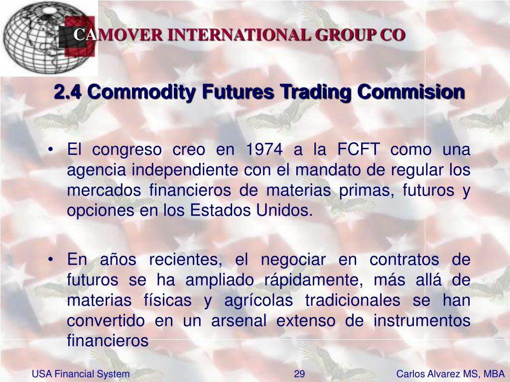 2.4 Commodity Futures Trading Commision