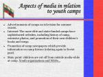 aspects of media in relation to youth camps