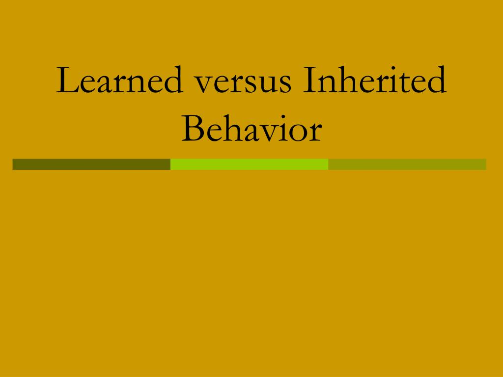 alcoholism genetic or a learned behavior Excerpt from term paper : exist between alcoholism as a learned behavior (rather than as a condition arising from any genetic predisposition) and self-esteem.