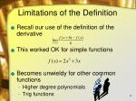 limitations of the definition