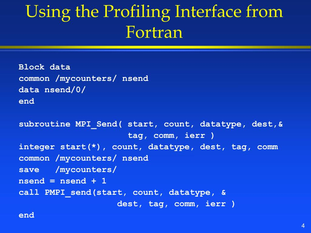 Using the Profiling Interface from Fortran