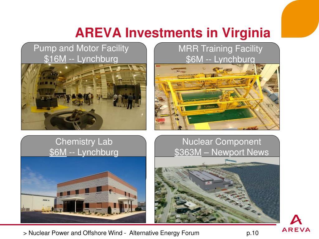 AREVA Investments in Virginia
