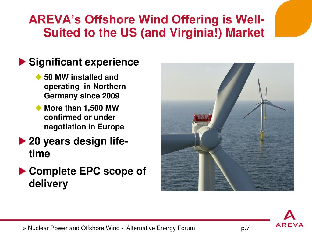 AREVA's Offshore Wind Offering is Well-Suited to the US (and Virginia!) Market