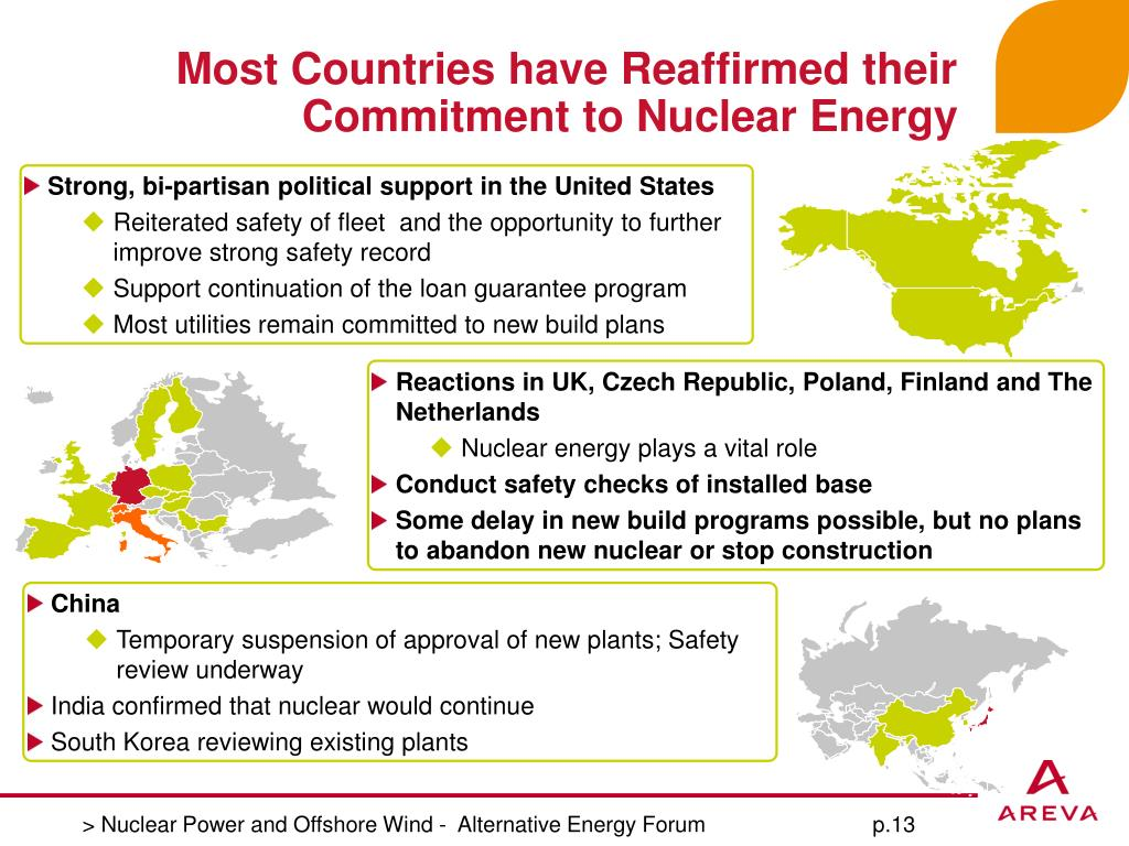 Most Countries have Reaffirmed their Commitment to Nuclear Energy