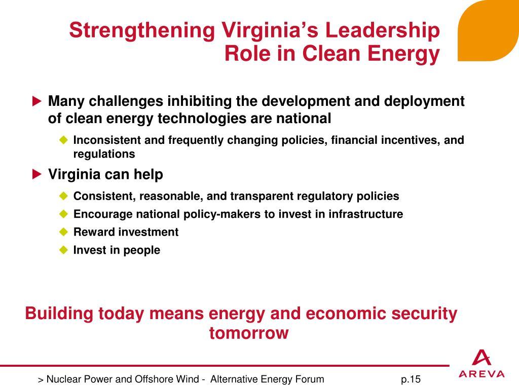 Strengthening Virginia's Leadership Role in Clean Energy