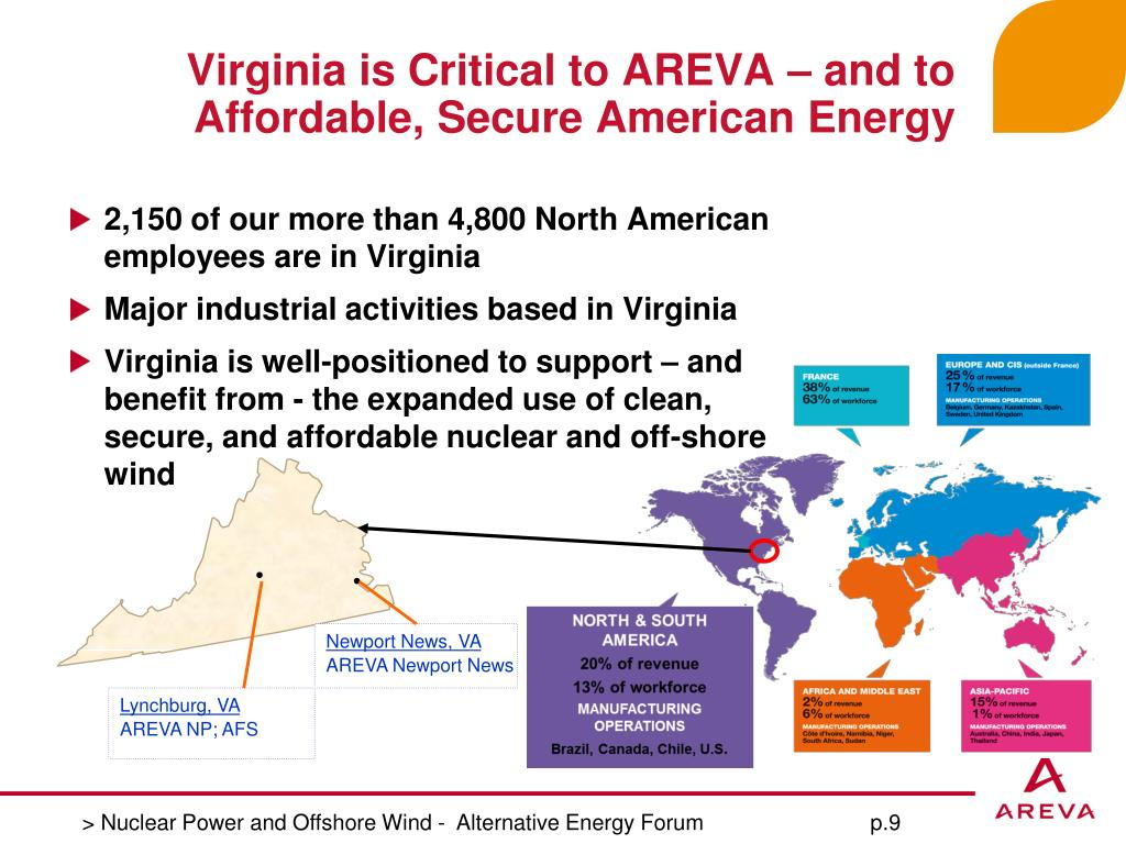 Virginia is Critical to AREVA – and to Affordable, Secure American Energy