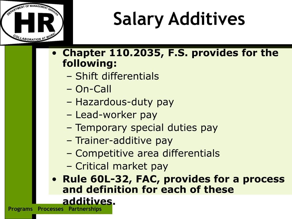 Salary Additives