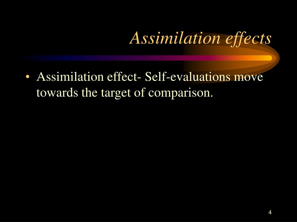 Assimilation effects