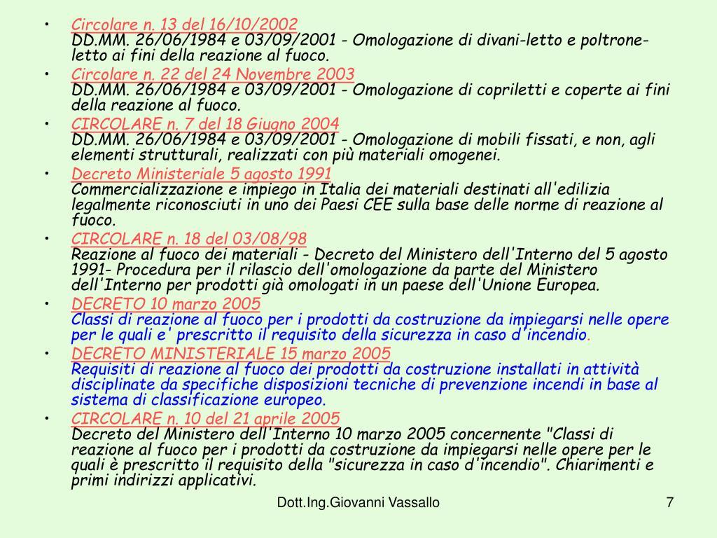Circolare n. 13 del 16/10/2002