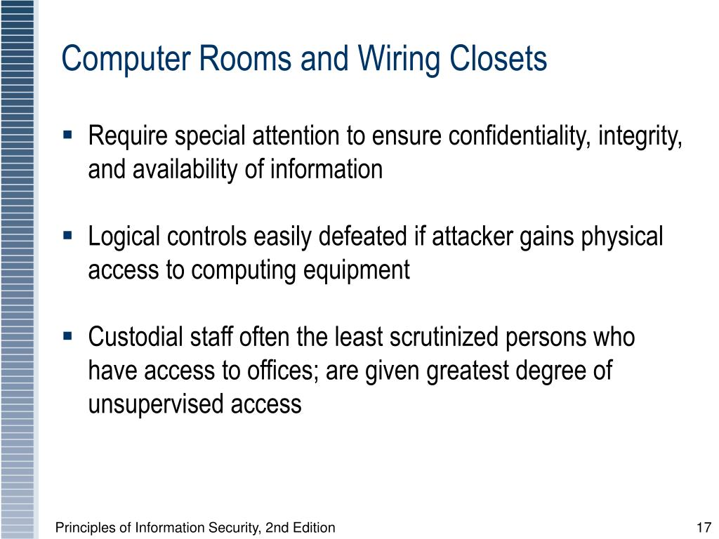Computer Rooms and Wiring Closets