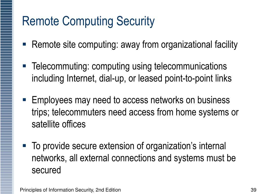 Remote Computing Security