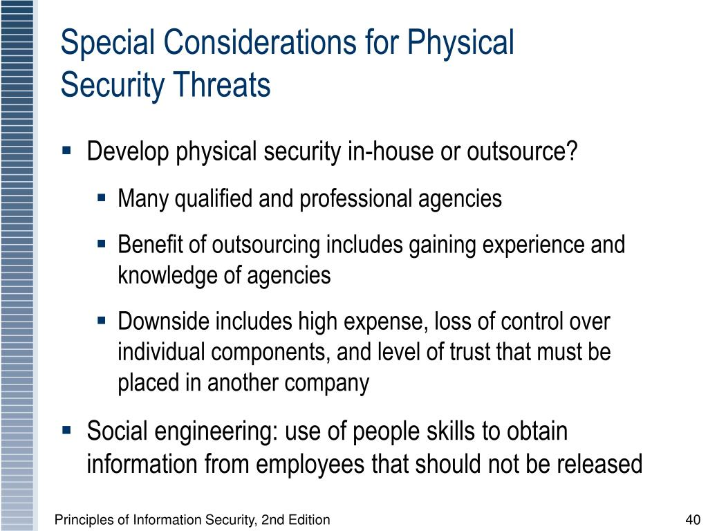 Special Considerations for Physical