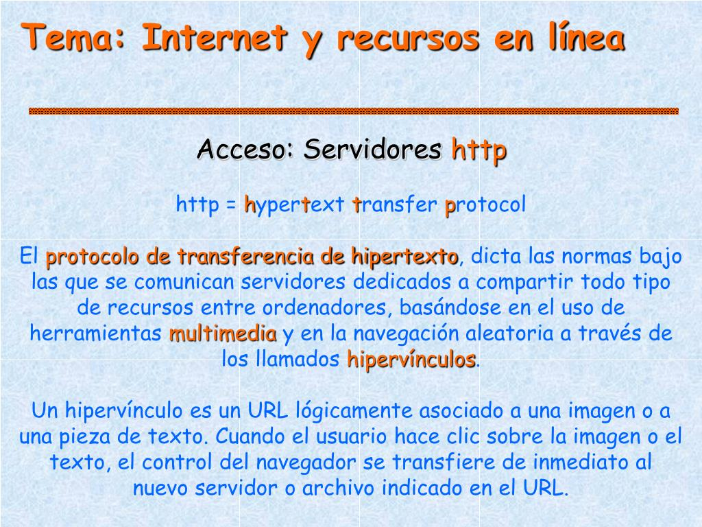 Tema: Internet y recursos en línea