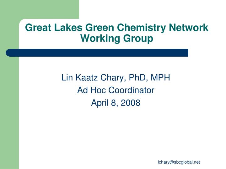 Great Lakes Green Chemistry Network