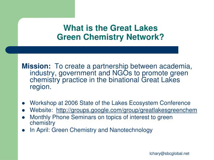 What is the great lakes green chemistry network