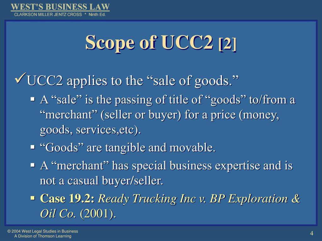Scope of UCC2