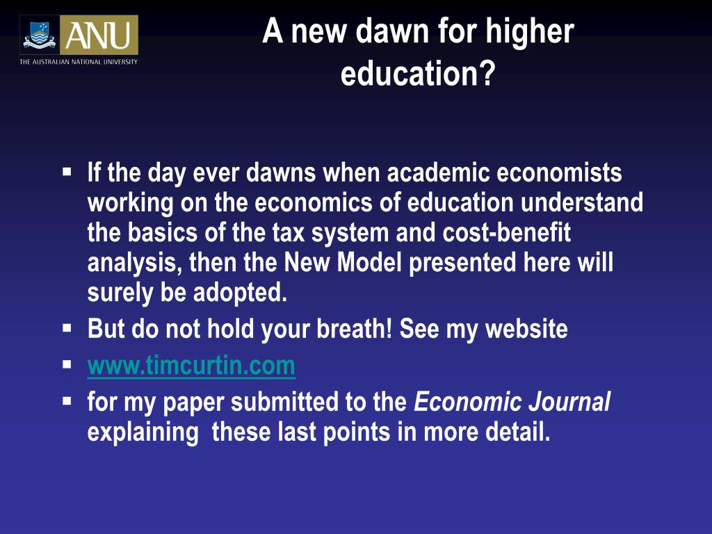 A new dawn for higher education?