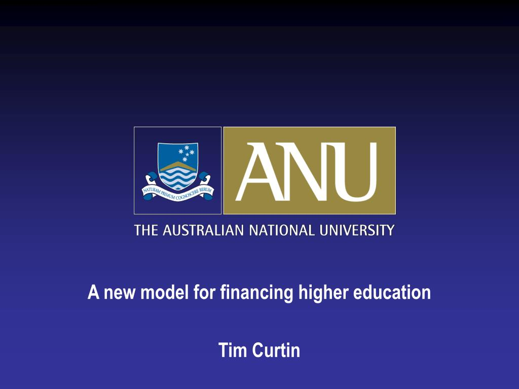 A new model for financing higher education