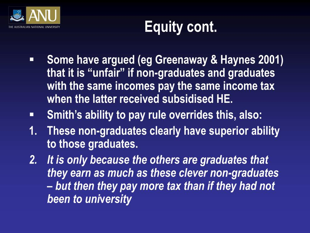 Equity cont.