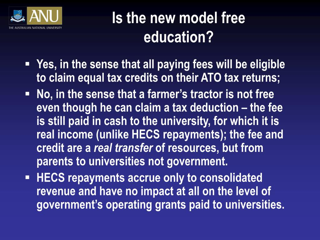 Is the new model free education?