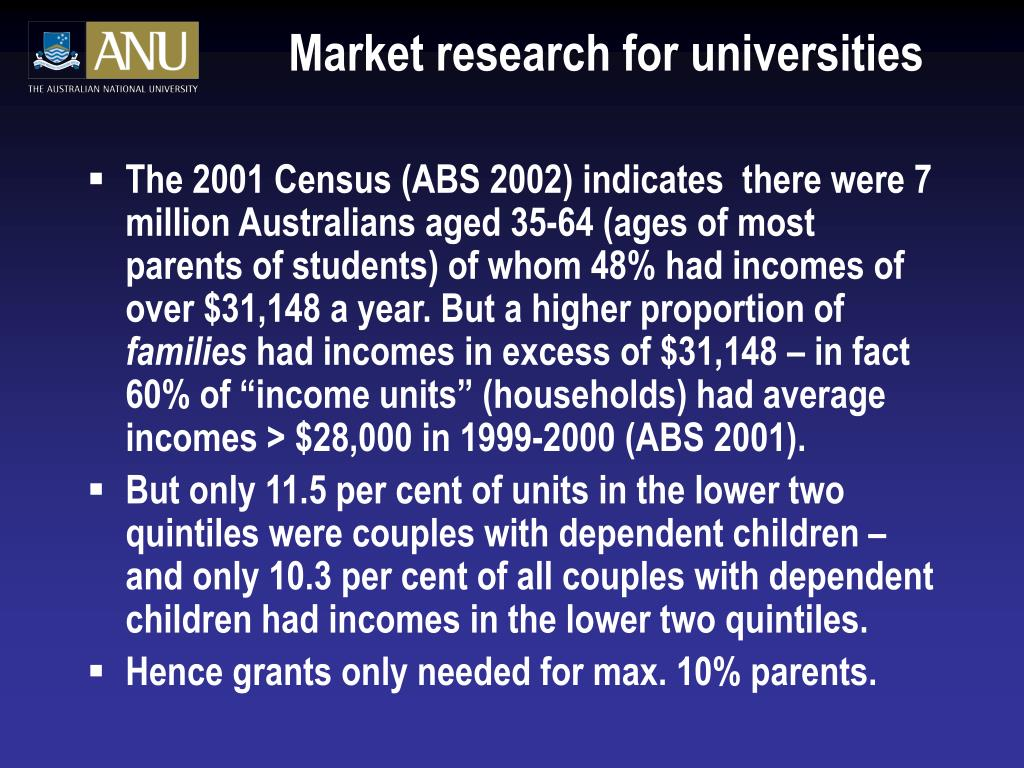 Market research for universities