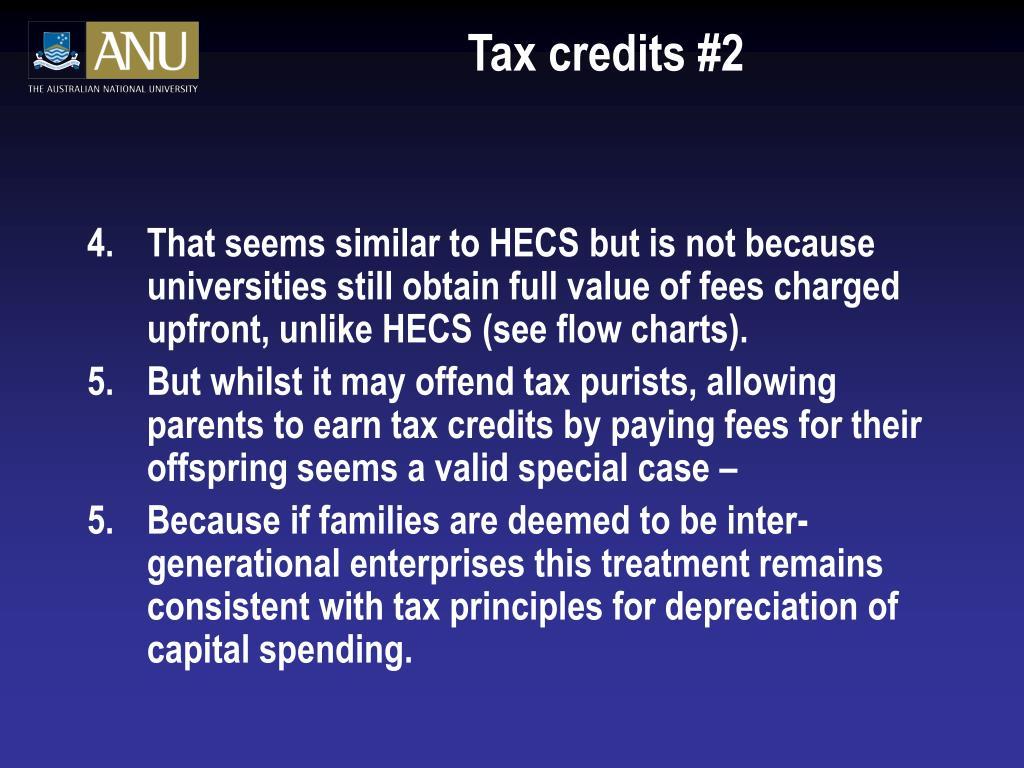 Tax credits #2
