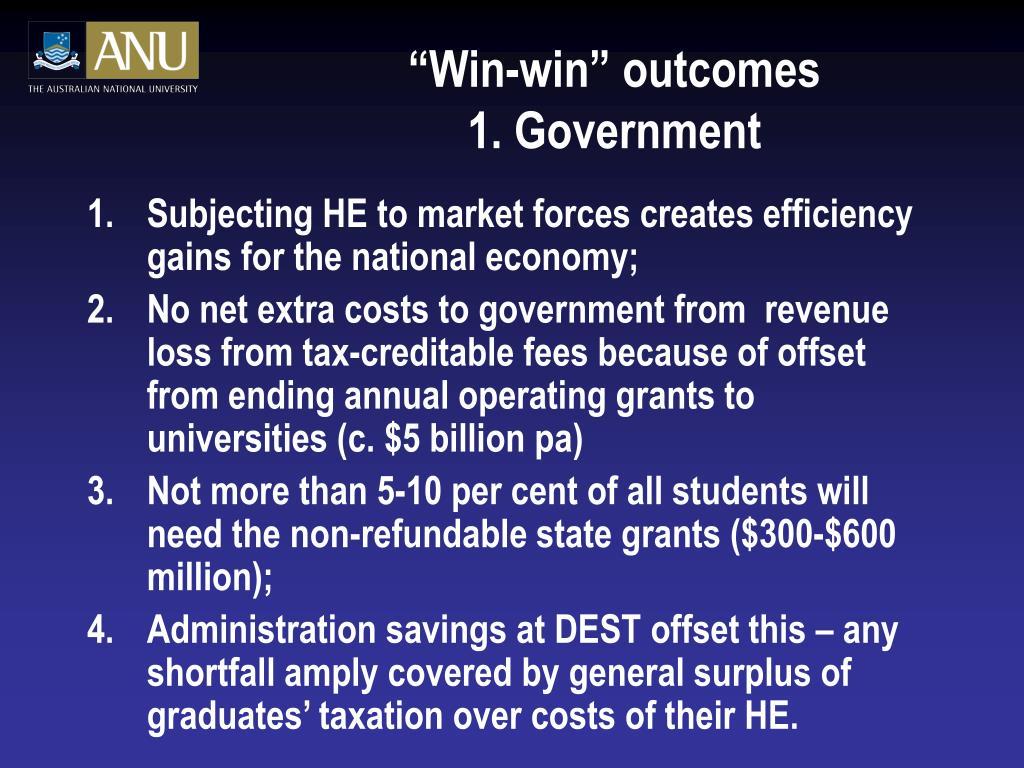 """""""Win-win"""" outcomes"""