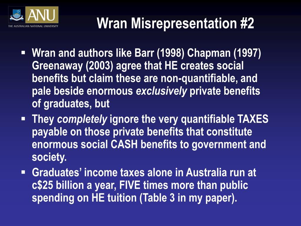 Wran Misrepresentation #2