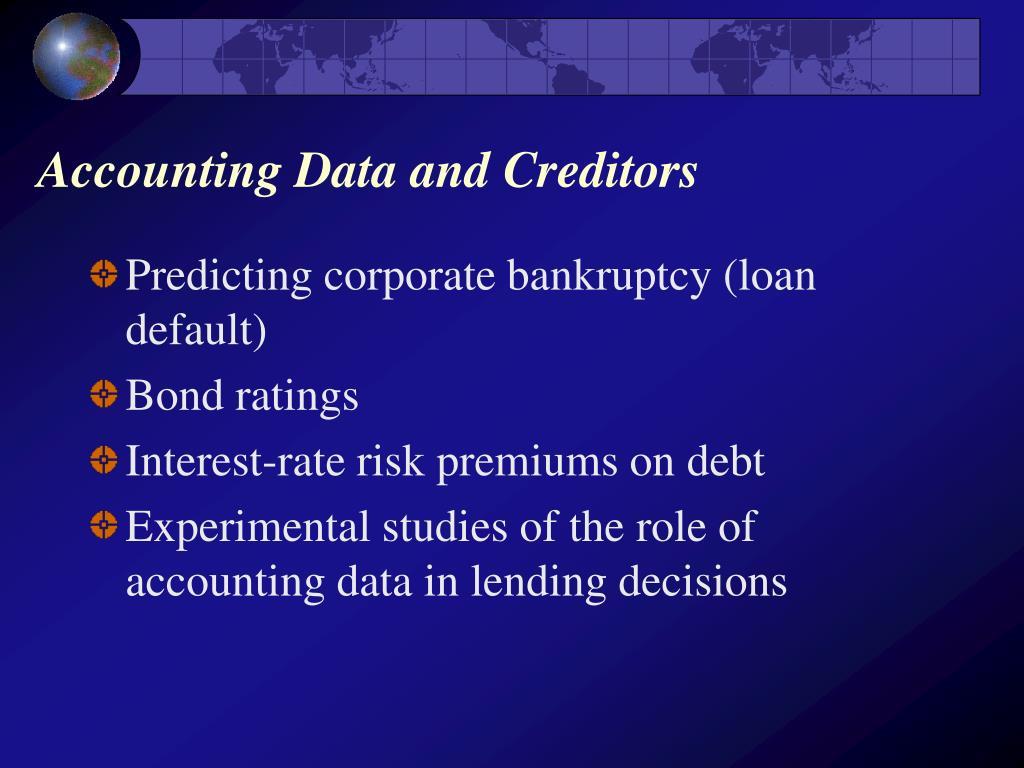 Accounting Data and Creditors