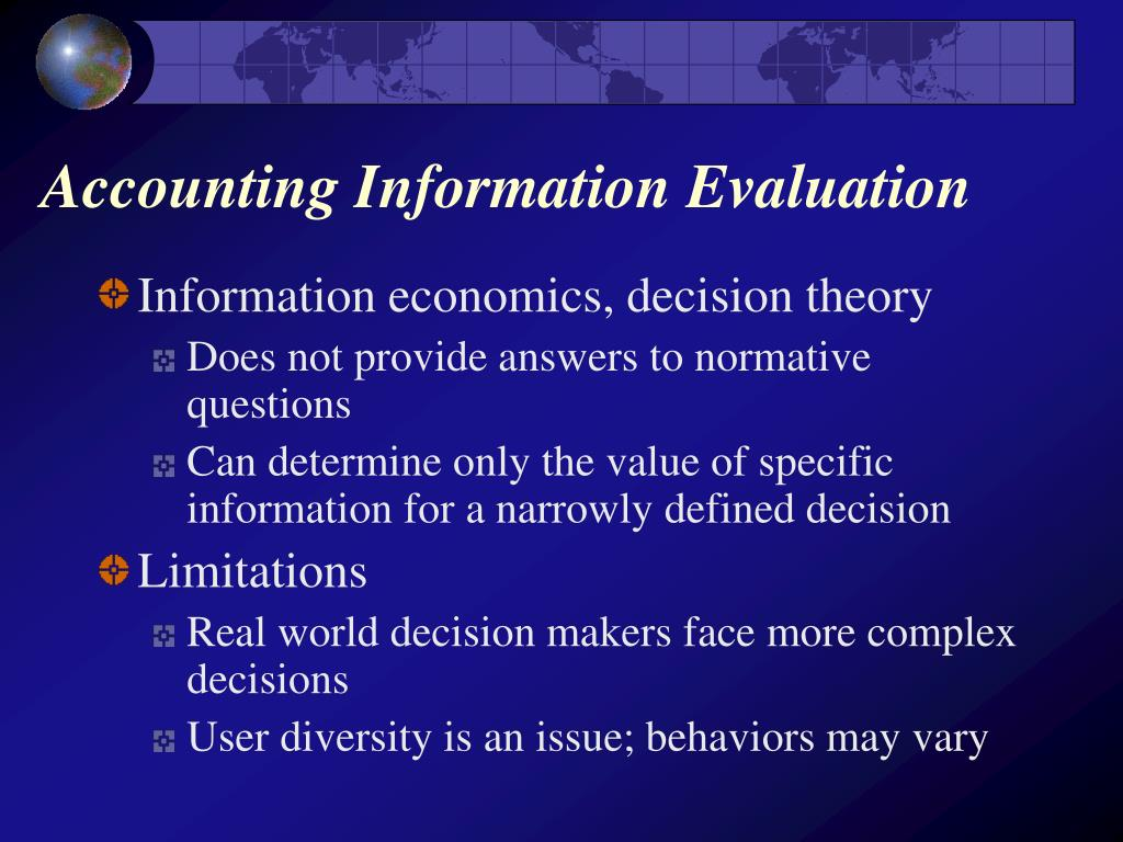 Accounting Information Evaluation