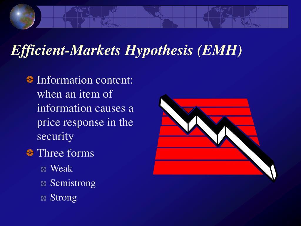 Efficient-Markets Hypothesis (EMH)