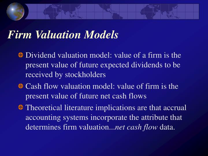 Firm valuation models