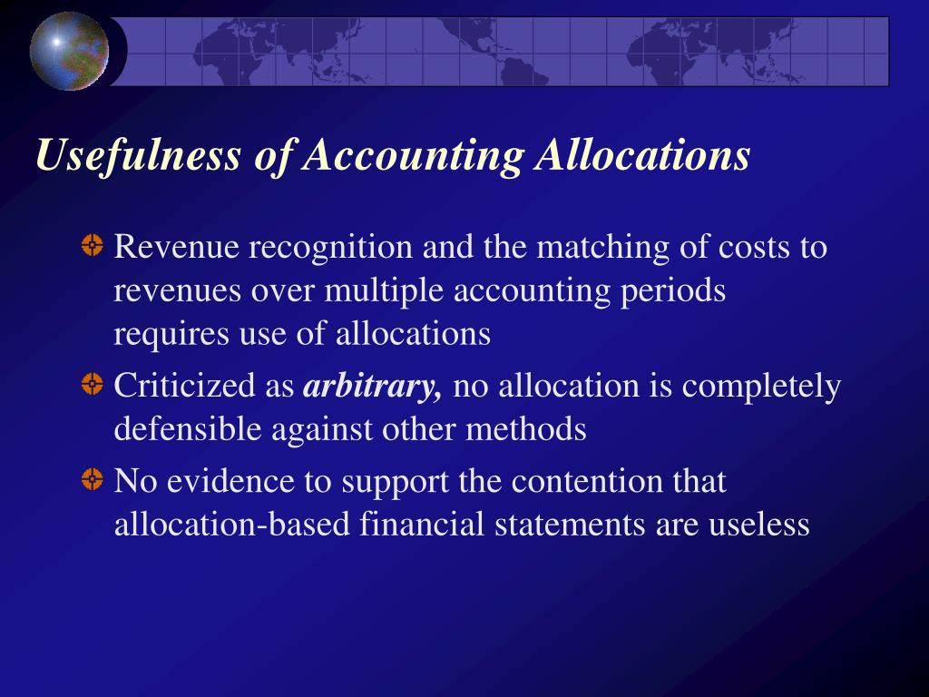 Usefulness of Accounting Allocations
