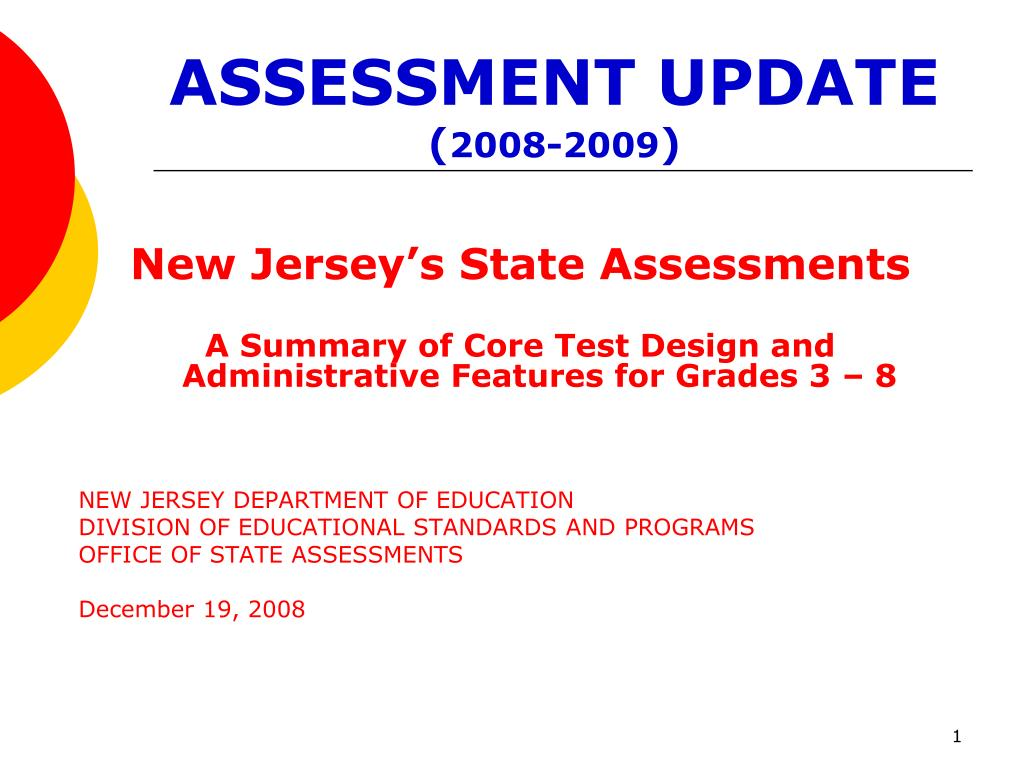 assessment update 2008 2009 l.