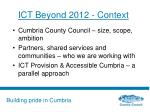 ict beyond 2012 context