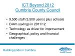 ict beyond 2012 cumbria county council