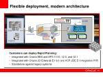 flexible deployment modern architecture