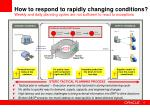 how to respond to rapidly changing conditions
