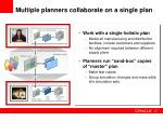 multiple planners collaborate on a single plan