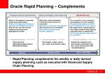 oracle rapid planning complements
