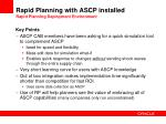 rapid planning with ascp installed rapid planning deployment environment