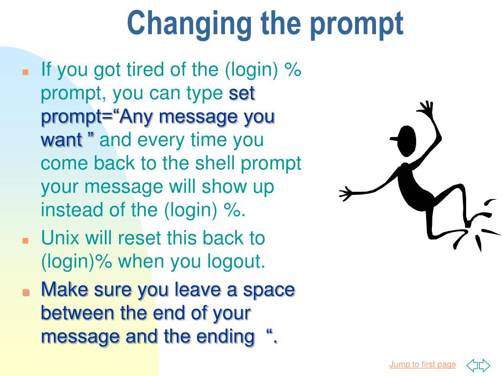 Changing the prompt