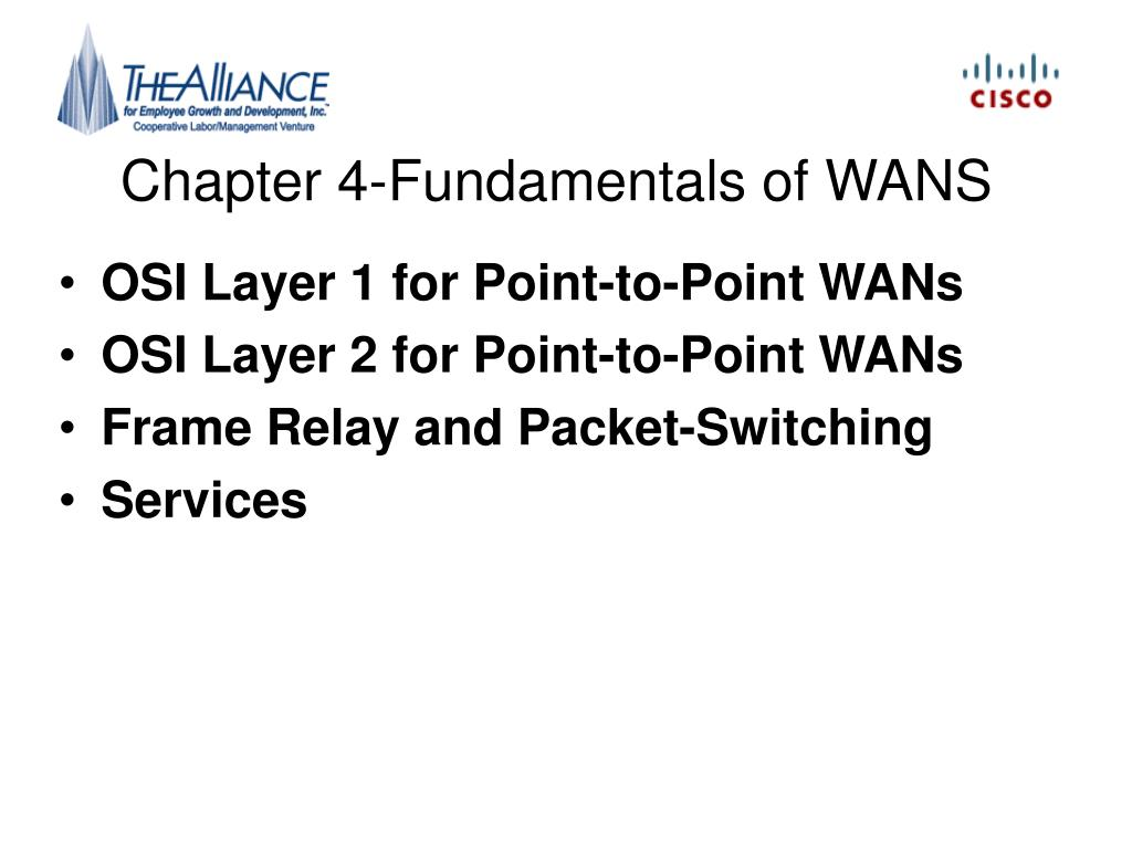Chapter 4-Fundamentals of WANS