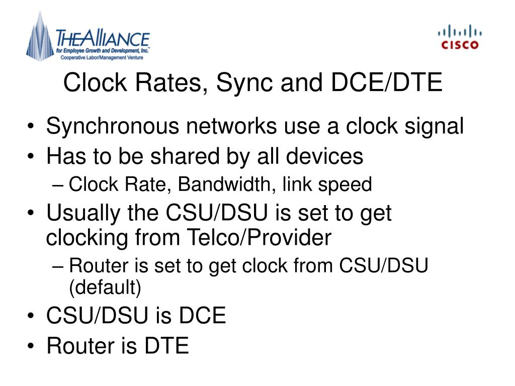 Clock Rates, Sync and DCE/DTE