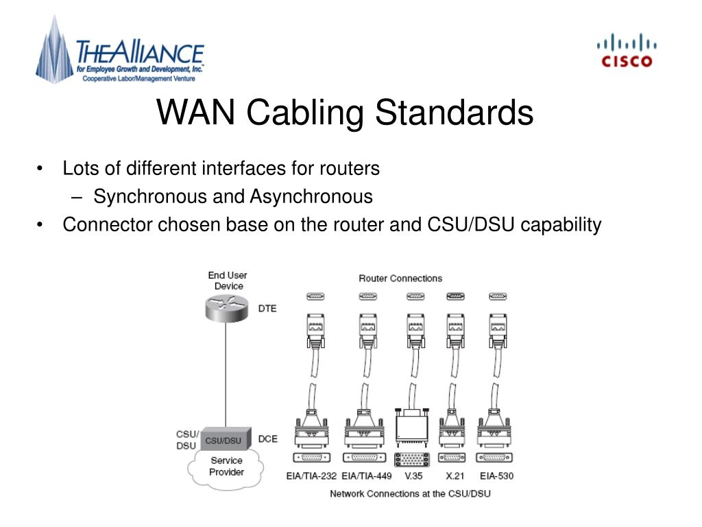 WAN Cabling Standards