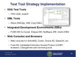 test tool strategy implementation
