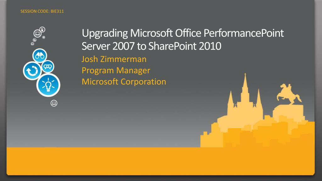 upgrading microsoft office performancepoint server 2007 to sharepoint 2010 l.