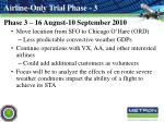 airline only trial phase 3